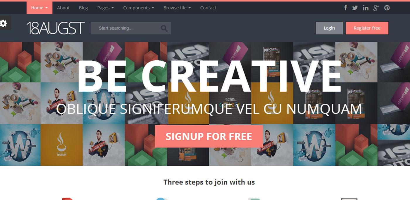 10 flat html templates resources flat ui design trends 02 18augst 15 maxwellsz