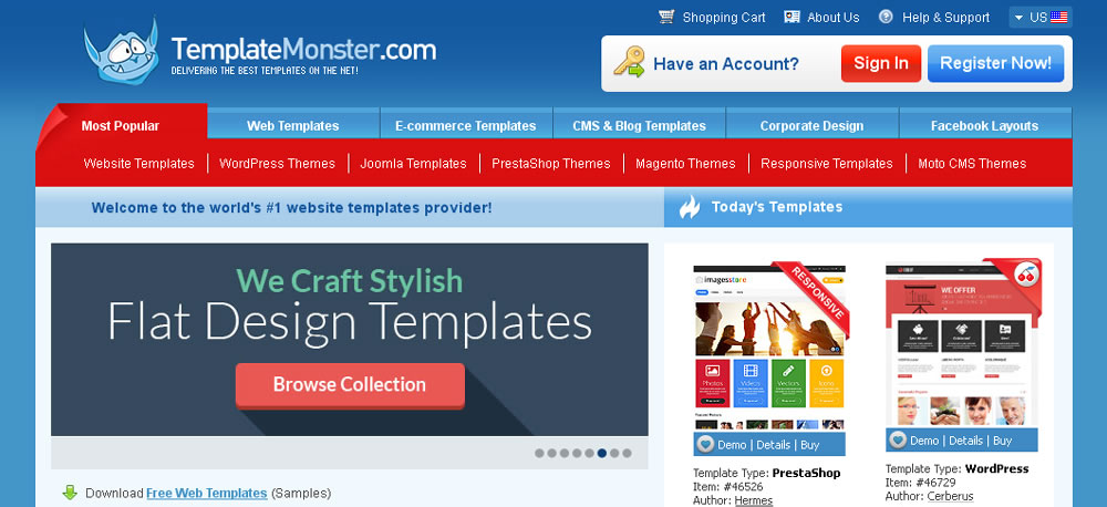 Win a Design Template for Your Website - Giveaway-Flat UI Design Trends