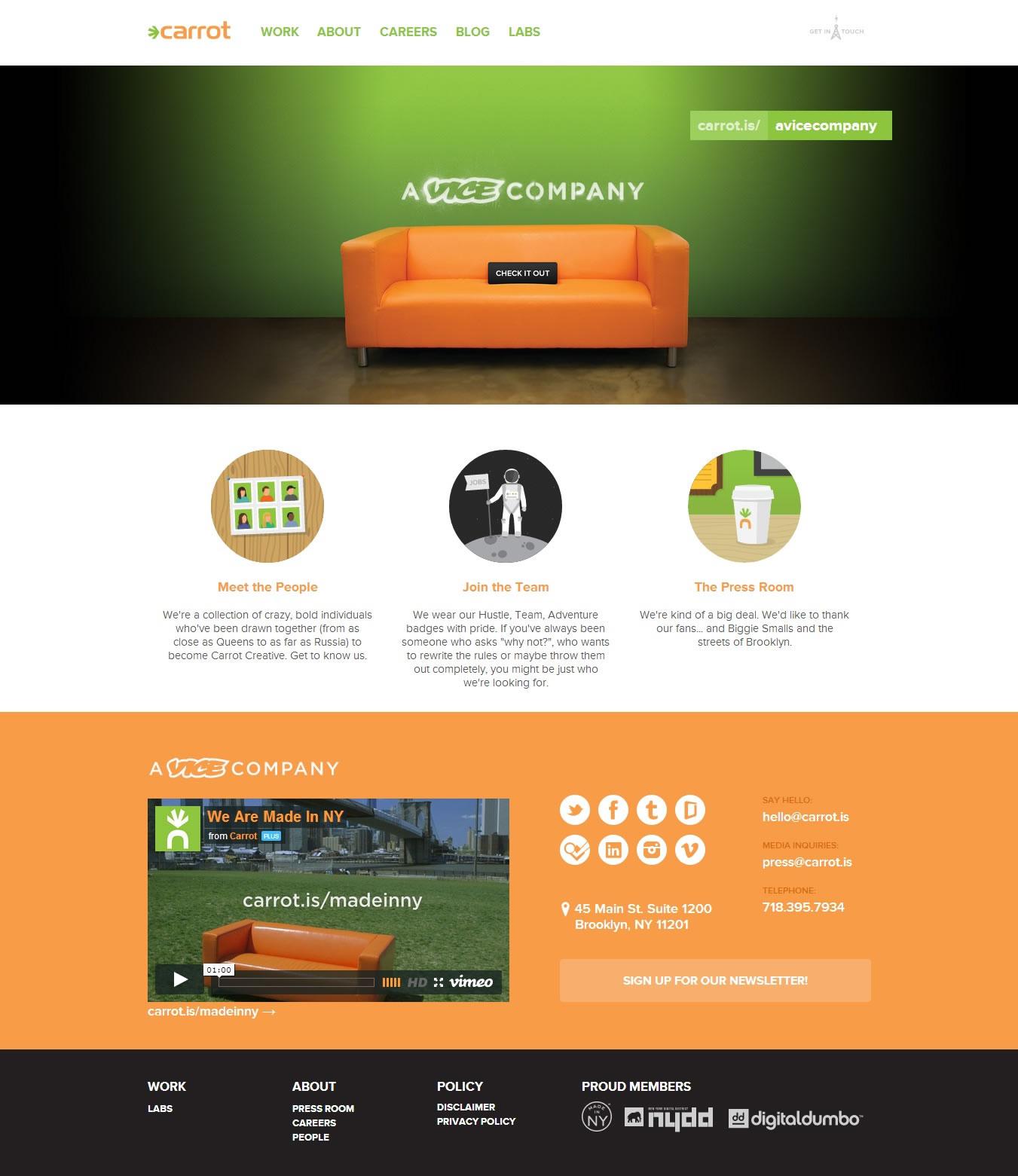 Carrot Creative - Flat UI Design Website